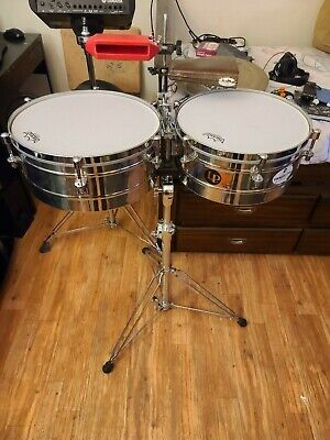 LP Tito Puente 14 & 15 Timbales used good condition, normal wear and tear
