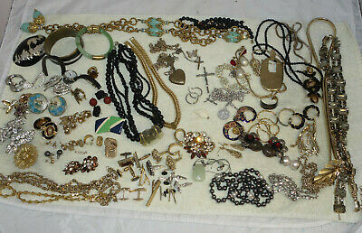 60+ Piece MIXED Lot VTG-MODERN Costume Jewelry Estate Signed Unsigned - WEARABLE