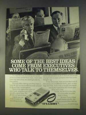 1977 Sony M-101 Microcassette Recorder Ad - Best Ideas