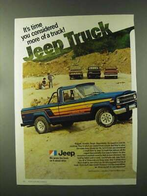 1979 Jeep Honcho Pickup Truck Ad - Time You Considered