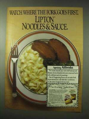 1984 Lipton Noodles & Sauce Ad - Where the Fork Goes