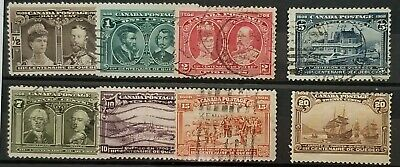 Quebec Issue 96 to 103 Mixed Used (103 mint OG HR) Set on Approval Card