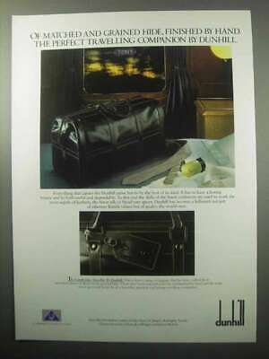 1987 Dunhill Cambridge Traveller Luggage Ad