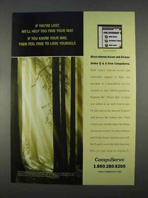 1996 CompuServe Internet Access Ad - If You're Lost