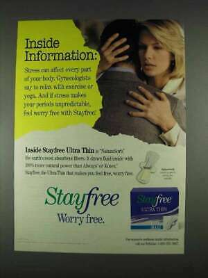 1996 Stayfree Ultra Thin Maxi Pads Ad - Information