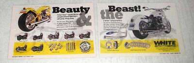 1999 White Brothers Porker Pipes Ad - Beauty & Beast