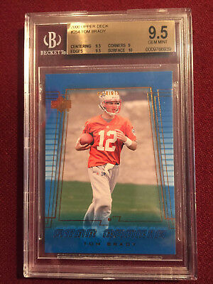 Tom Brady 2000 Upper Deck Rookie Card BGS 9.5 Gem Mt New England Patriots HOF