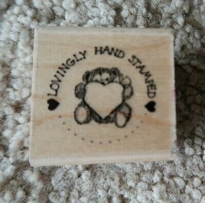 🎈Lovingly Hand Stamped words phrase saying Annette Allen Watkins rubber stamp