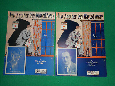 Just Another Day Wasted Away 1927 sheet music BOGO