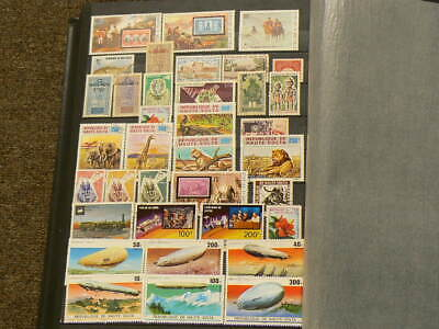Haute Volta Lot of 39 Cancelled Stamps Zeppelin #5073