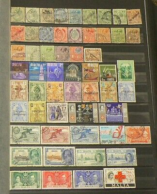 Malta Lot of Over 120 Cancelled Stamps #5168