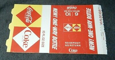 Coca Cola Coke Diamond One Way Bottle UNUSED Cardboard Six 6 Pack Carton Carrier