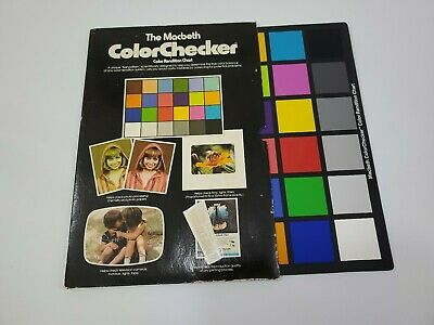 "The Macbeth Color Checker Rendition Chart 9"" X 13"""