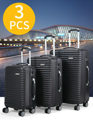 20/24/28 inTravel luggage Bag Set of 3 Trolley Hard Shell Suitcase W/Coded Lock