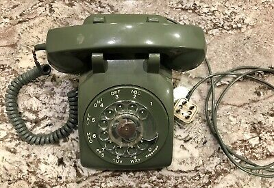 Vintage Northern Telecom Green Rotary Dial Telephone