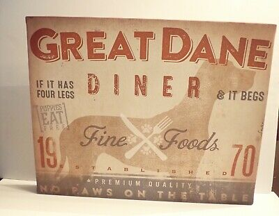 Great Dane Diner Gallery Wrap Sign