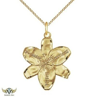 "Chastity 14Kt Gold Filled Medal Pendant  5/8"" x 1/2"" - Matching 18 inch Chain"
