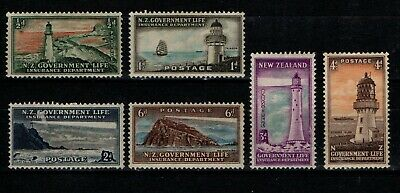 New Zealand 1947 Life Insurance selection to 6d  SGL42-44, L46-48 Mint MH