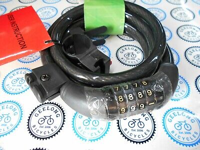 Combo Bike Bicycle Lock 4 Digit Combination Code Resetable Steel Cable Security