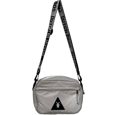 Dutch Bros Coacha Reflective Silver Adjustable Removable Strap Collector Bag