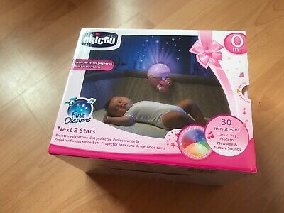 Chicco First Dreams Next 2 Stars Night Light Projector and music & sounds pink