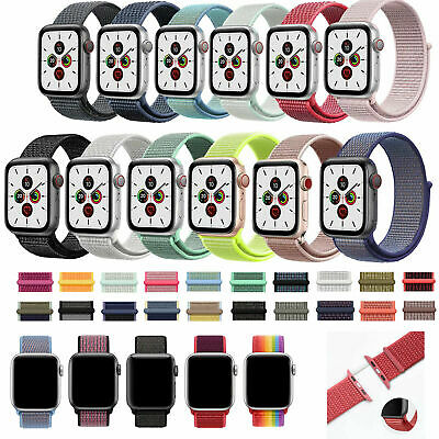 Nylon Sport Woven Loop Band Strap For iWatch Apple Watch Series 5/4/3/21 38-44mm