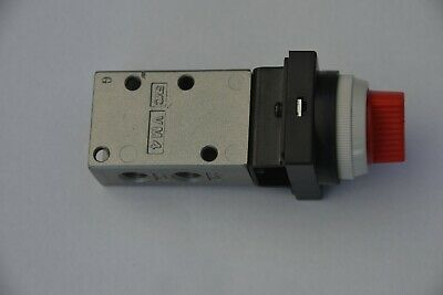 "SMC red detent twist selector valve, 3/2, 1/8"" BSPT ports, universal N.C. / N.O."