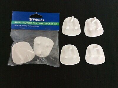 6 X Baby Child Toddler Safety Wall Plug Socket Covers