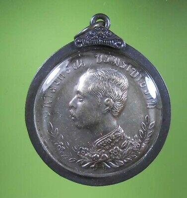 Old Beautiful Antique King Rama V Siam Pendant Very Rare !!!