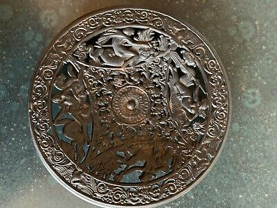 Antique Coalbrookdale Cast Iron Decorative Plate
