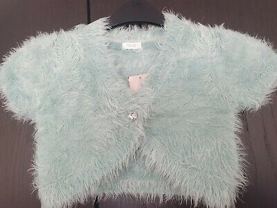 Next Girls Mint Green Fluffy Cardigan Shawl, new with tags, age 6
