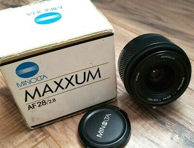 Minolta for SONY AF 28mm f2.8  camera lens JAPAN  GREAT