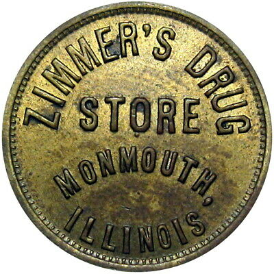 Circa 1919 Monmouth Illinois Good For Token Zimmer's Drug Store