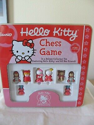Rare Hello Kitty Chess Game Collector Tin New Sanrio in Great Condition!!