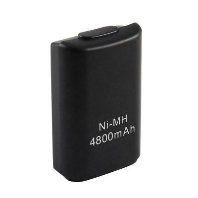 1 x 4800mAh Xbox 360 Wireless Controller Rechargeable Black Battery Pack