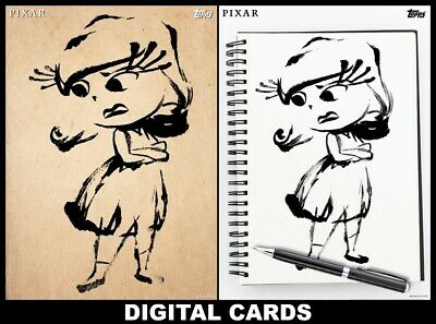 Topps Disney Collect INSIDE OUT SKETCHES DAY #4 DISGUST STANDARD + MOTION CARDS