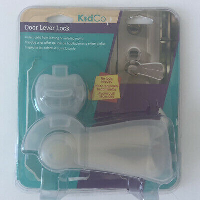 KidCo S353 Door Lever Lock Clear Auto Safety Knob Baby Proof