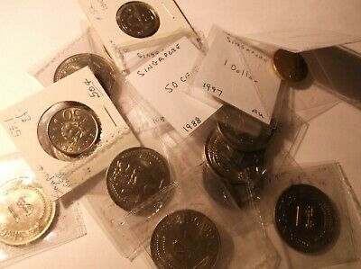 Singapore Coins Dated 1968,1988,1997,2006 Quantity 17
