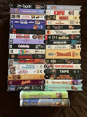 VHS Lot - 35 Movies (including Star Wars, Grease, Sound of Music, Freaky Friday)
