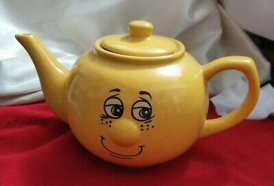 Collectable Trade Winds Funny Face Yellow teapot