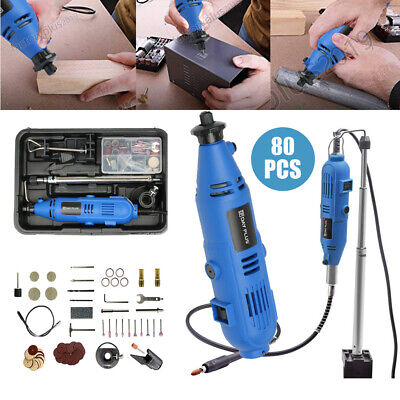 Top 80PC ROTARY MULTI TOOL SET COMPATIBLE ACCESSORIES MINI DRILL HOBBY UK STOCK