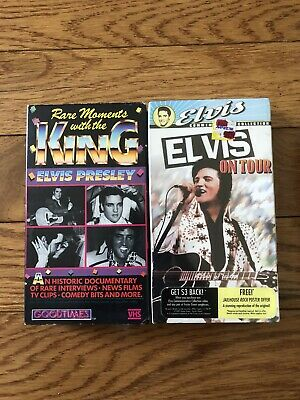 Elvis Presley VHS Lot Of 2 Rare Moments & Elvis On Tour Fast Shipping