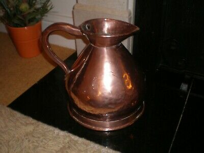 A Large Antique 1 Gallon Copper Jug