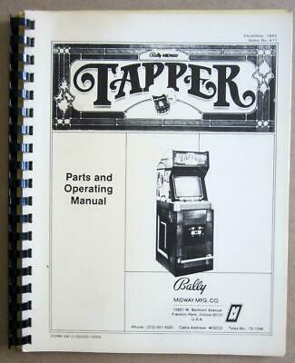 Tapper Video Arcade Game Schematics Parts & Operating Manual, Bally Midway 1983