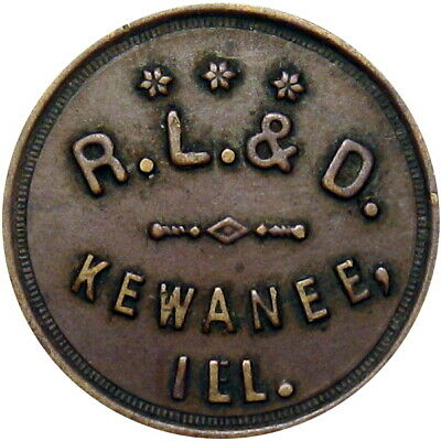 Kewanee Illinois Good For Token R L & D Dairy 1 Loaf Bread Unlisted Merchant