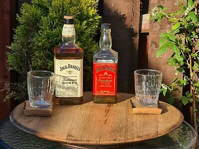 Large Oak Whisky Whiskey Barrel Lazy Susan bourbon Serving Board