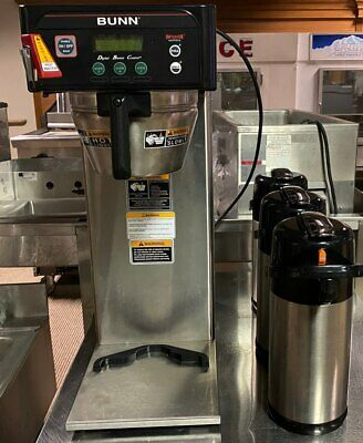 Stainless Steel Bunn Coffee Brewer Model #Icb-Dv With 3 Airpots