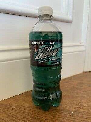 Mtn Dew Game Fuel Berry Lime Call of Duty Black Ops 3 2015 20 oz Bottle Mountain
