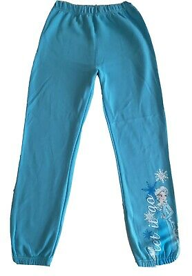 Disney Frozen Elsa Girls Joggers Jogging Pants Trackie Bottom Fleece 13 Years