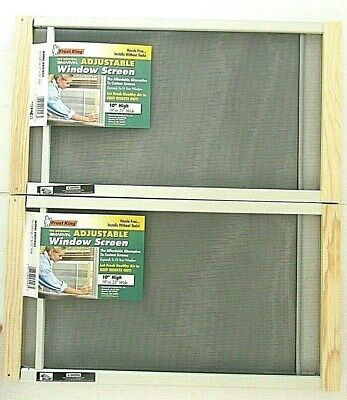 "(2-PACK) Frost King AWS1033 Adjustable Window Screen 10"" High x 19-33"" Wide"